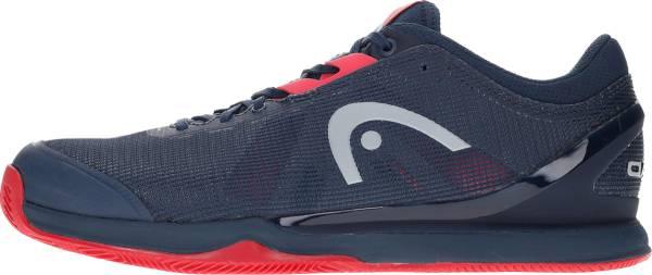 Head Sprint Pro 3.0 Clay - Navy blue / neon red (273010)