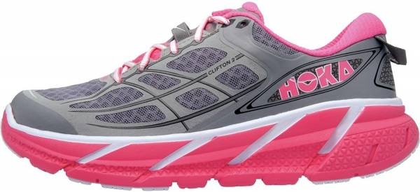 Hoka One One Clifton 2 - Grey / Neon Pink