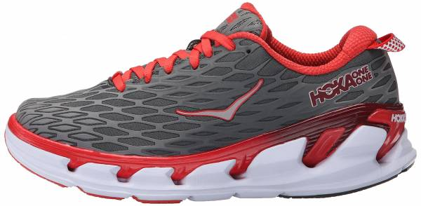 Hoka One One Vanquish 2 woman grey/poppy red