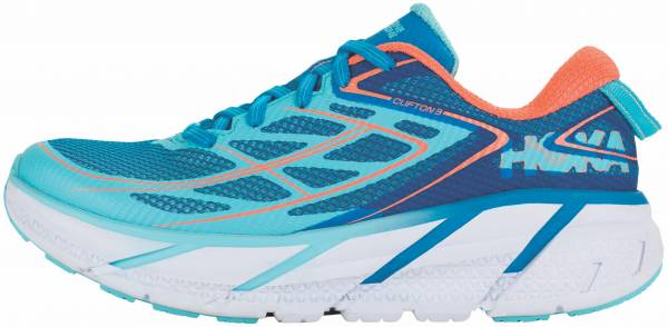 Hoka One One Clifton 3 woman blue jewel/neon coral