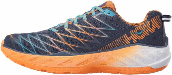 Hoka One One Clayton 2 Azul Medieval Blue Persimmon Orange