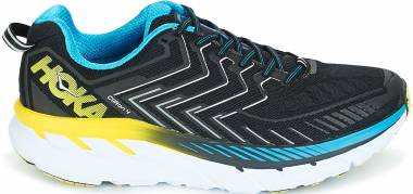 Hoka One One Clifton 4 Black/Cyan/Citrus Men