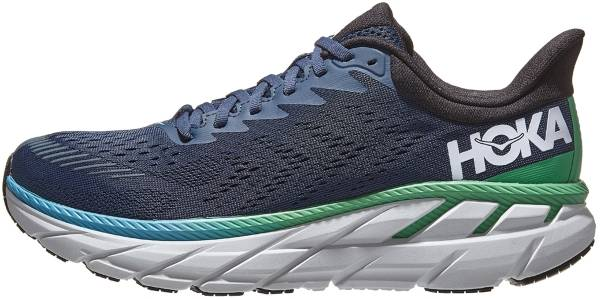 HOKA Clifton 07 Shoe for Running Jogging on Road or Light Trail with Neutral Support for Woman Blue Orange