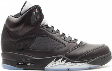 Air Jordan 5 Retro Black, Black-metallic Men