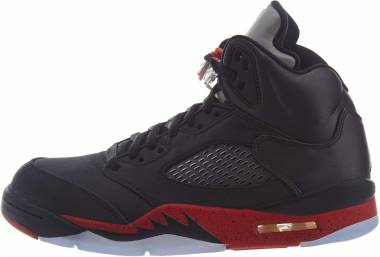 Air Jordan 5 Retro black, university red Men