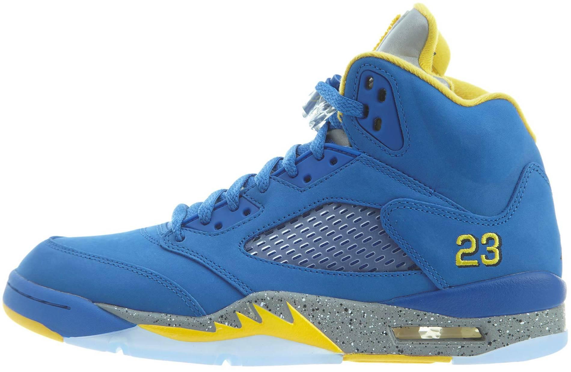 blue & black jordans
