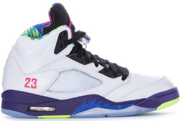 Air Jordan 5 Retro - white/court purple/racer pink/ghost green (DB3335100)