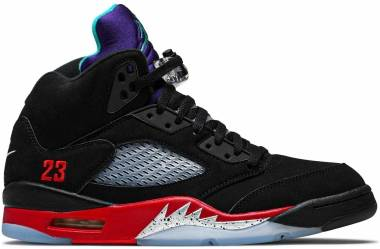 Air Jordan 5 Retro - Black/Fire Red-grape Ice-new Emerald