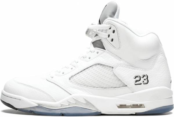 online store c9d0f 30eb4 Air Jordan 5 Retro White Black-Metallic Silver