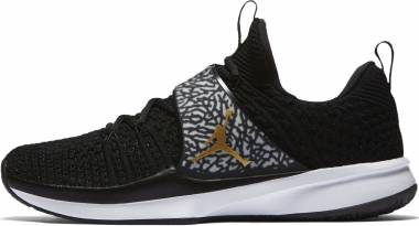 Air Jordan Trainer 2 Flyknit - Black/Metallic Gold-white