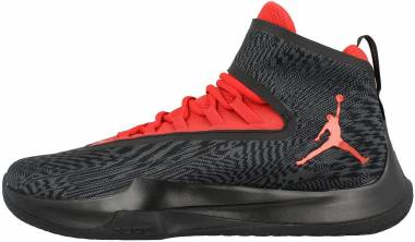 Jordan Fly Unlimited - Noir Black Wolf Grey Gym Red Anthracite