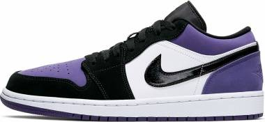 Air Jordan 1 Retro Low - White / Black-Court Purple