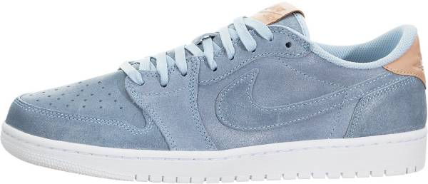 reputable site 66a6a 1d635 Air Jordan 1 Retro Low Ice Blue, Vachetta Tan-white