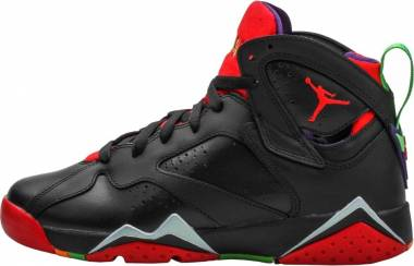 Air Jordan 7 Retro Black , Green Pulse-cool Grey-university Red Men