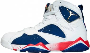 Air Jordan 7 Retro white, deep royal blue, fire red Men