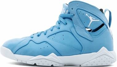 Air Jordan 7 Retro University Blue, White-white Men