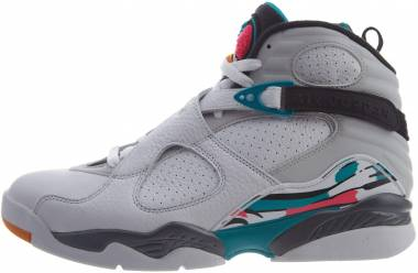 Air Jordan 8 Retro - Multicolore (White/White/Turbo Green/Neutral Grey 113)