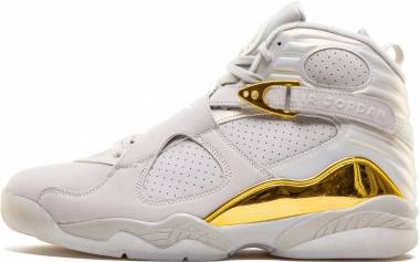 Air Jordan 8 Retro - Blanco Light Bone Metallic Gold White