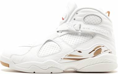 Air Jordan 8 Retro - white, blur-metallic gold