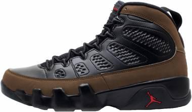 Air Jordan 9 Retro Black, Varsity Red-light Olive Men
