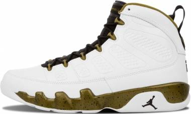 Air Jordan 9 Retro White, Black-miltia Green Men