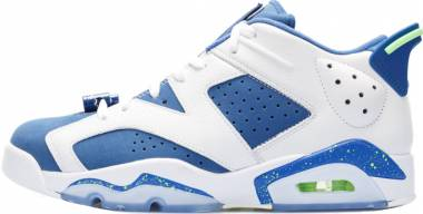 Air Jordan 6 Retro Low - Blanco / Verde / Azul (White / Ghost Green-insgn Blue)