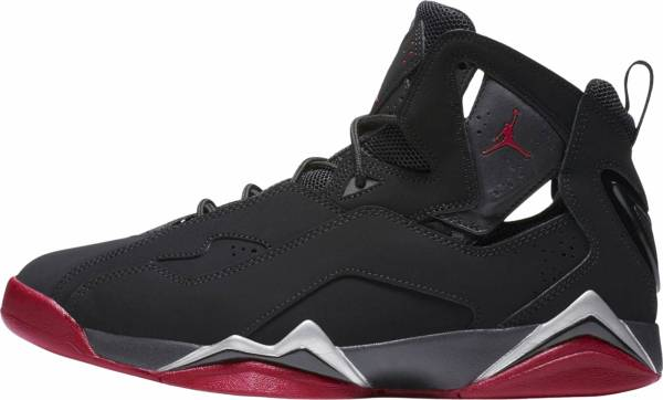 new style 2715b d1cec Jordan True Flight Black   Gym Red-metallic Silver