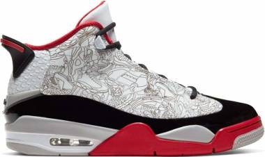 Air Jordan Dub Zero - White Black Varsity Red Neutral Grey