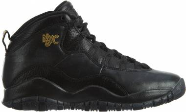 Air Jordan 10 Retro - Black/Black/Drk Grey/Mtllc Gld