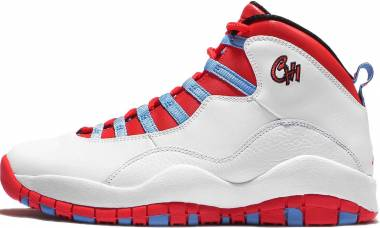 Air Jordan 10 Retro - White/Light Crimson/University Red/Black