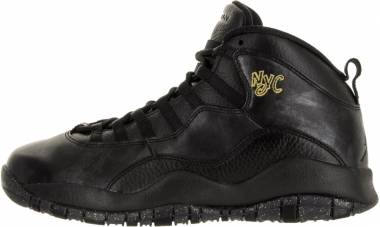 Air Jordan 10 Retro Black, Black-drk Grey-mtllc Gld Men