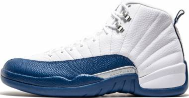 Air Jordan 12 Retro white, frnch bl-mtllc slvr-vrst Men