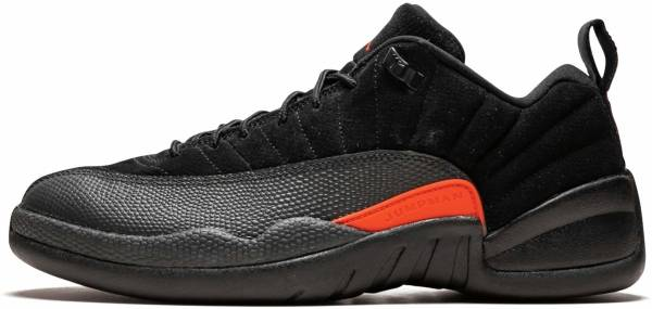 Air Jordan 12 Retro Low Black, Max Orange-anthracite