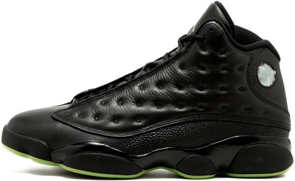cheap for discount 86107 3f8dd Air Jordan 13 Retro black, altitude green