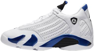 Air Jordan 14 Retro - White/Black-hyper Royal (487471104)