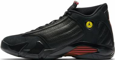 Air Jordan 14 Retro Black, Varsity Red-black Men