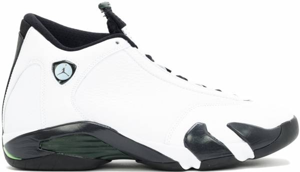 timeless design 5bc0b d97c1 Air Jordan 14 Retro White Black Green Legend Blue
