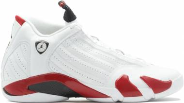 Air Jordan 14 Retro - White Varsity Red Metallic Silver Black