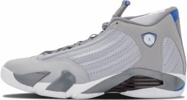 Air Jordan 14 Retro Wolf Grey, Sprt Blue-cl Gry-wht Men