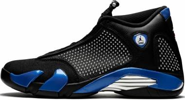 Air Jordan 14 Retro - black, varsity royal-chrome