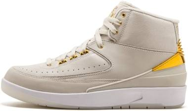 Air Jordan 2 Retro - light bone, metallic gold-white