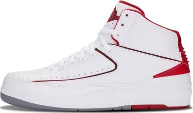 Air Jordan 2 Retro - White/Black-varsity Red-cement Grey (385475102)