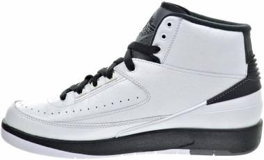 Air Jordan 2 Retro - white, black-dark grey