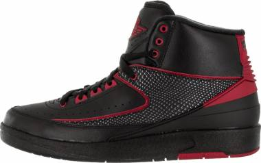Air Jordan 2 Retro - Black Black Varsity Red