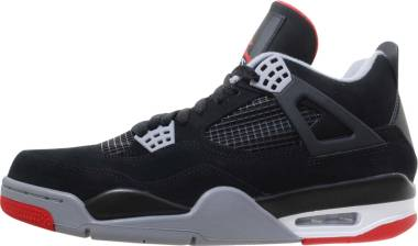 Air Jordan 4 Retro - black, cement grey-summit white-fire red