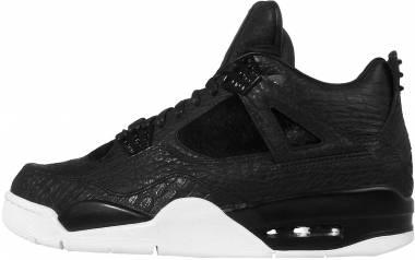 Air Jordan 4 Retro Black / Grey (Black / Black-sail) Men