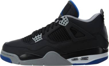 Air Jordan 4 Retro black, game royal-matte silver Men