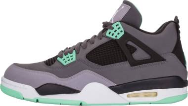 the latest 3a189 5d531 Air Jordan 4 Retro - Green Glow (Grey, Black And Green) Men