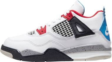 Air Jordan 4 Retro - White/Military Blue-fire Red-tech Grey
