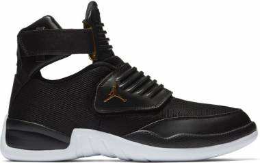 Jordan Generation Black/Black-white-metallic Gold Men
